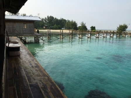 View dari lobby ke Jembatan Lagoon